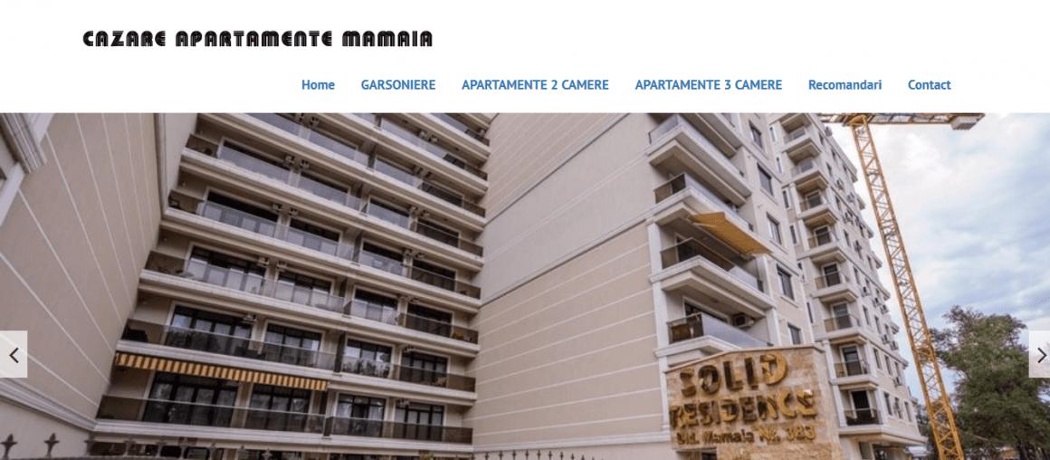 Web design site web de inchiriere apartamente in regim hotelier
