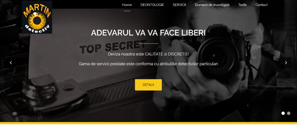 Web design site detectivi particulari