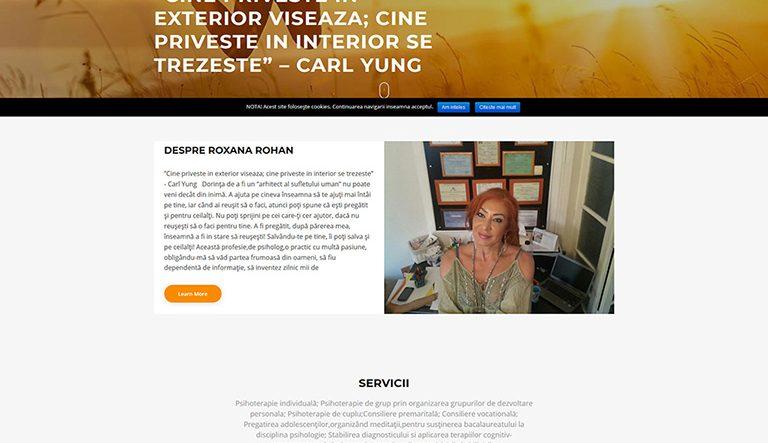 Web Design site prezentare - Redesign Site Cabinet Psihologie